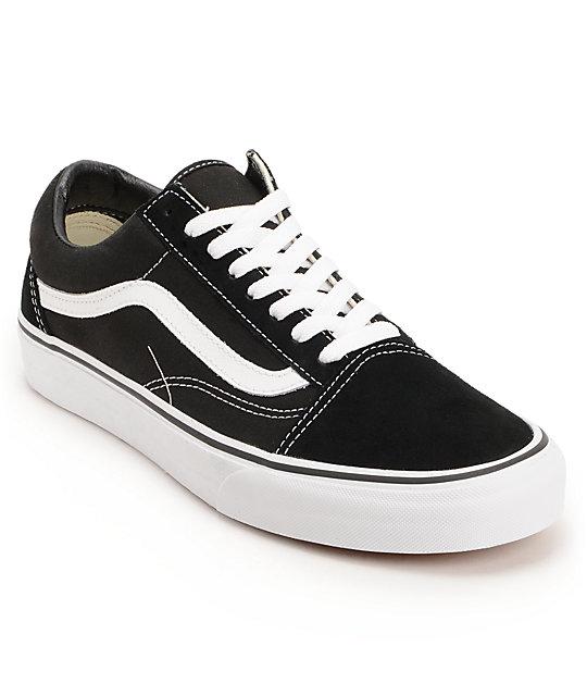 vans shoes vans old skool black u0026 white skate shoes vysmuhp
