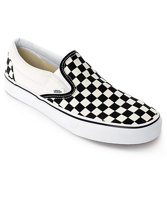 vans shoes vans slip-on black u0026 white checkered skate shoes kqyyjxt