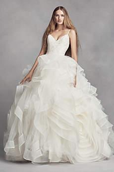 vera wang bridal long ballgown modern chic wedding dress - white by vera wang therpya