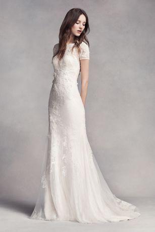 vera wang bridal long sheath wedding dress - white by vera wang mvpcoun