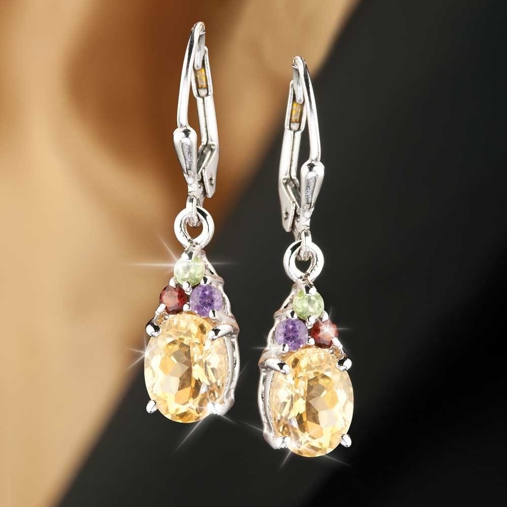 Citrine Earrings Jewelry Fascination