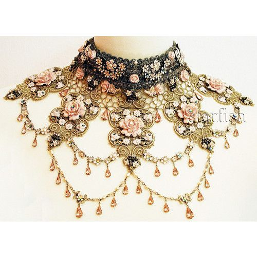 victorian jewelry detailed beautiful vintage necklace neck piece ... naexwxm