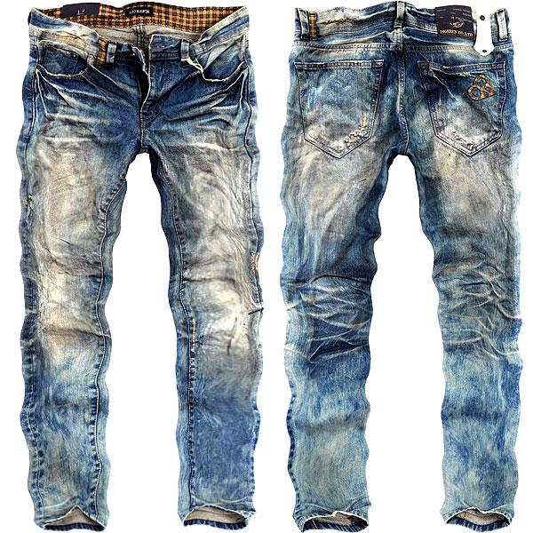 vintage jeans digreen 9099 vintage processing denim pants mens ☆ straight slim jeans jeans  bleach, mtwjhio