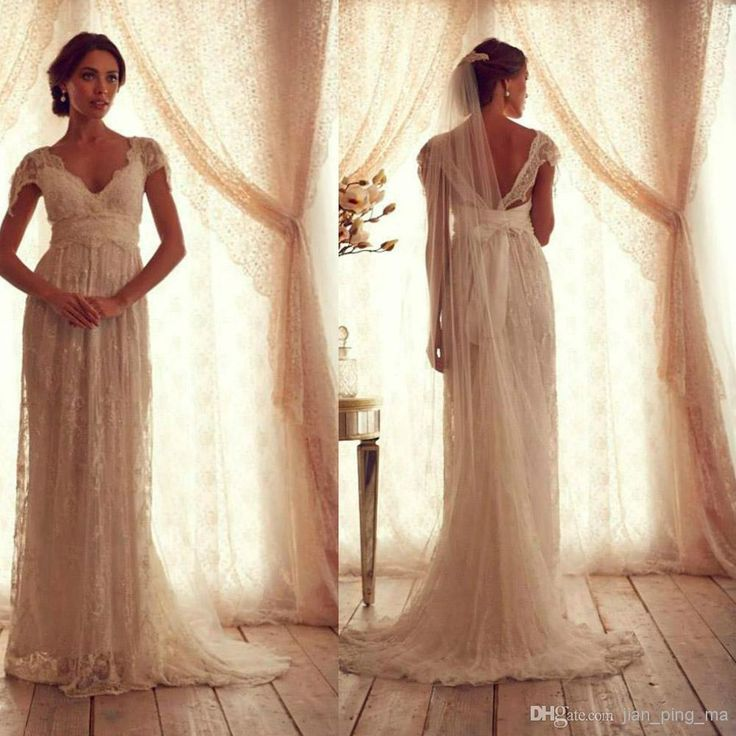 vintage wedding dresses sheer strap wedding gown cap sleeve shher neck  floor lengt with tsztmfm