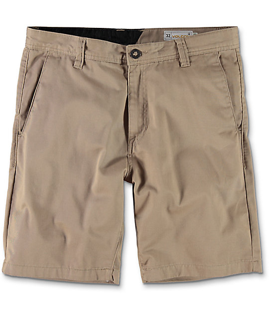 volcom frickin drifter khaki chino shorts wpdqmde