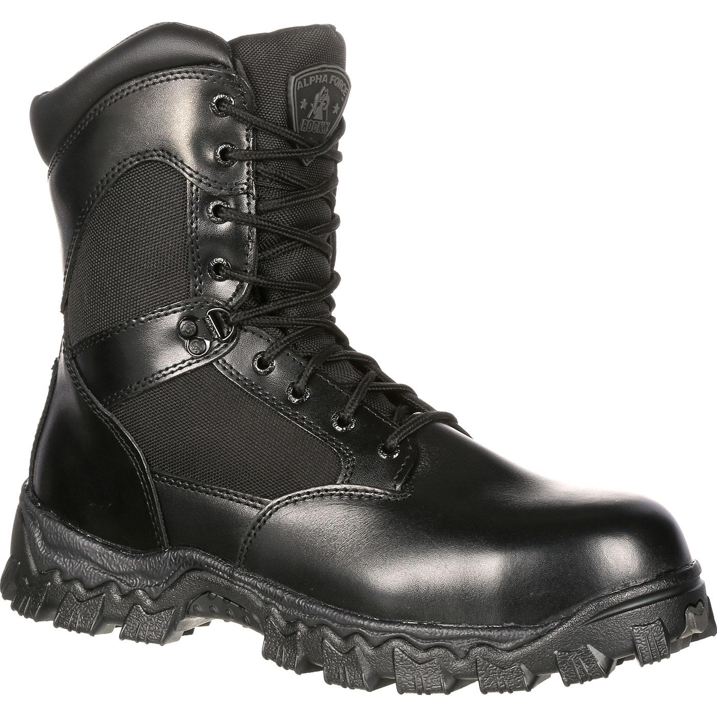waterproof boots rocky alphaforce zipper waterproof duty boot, , large hwqvrts