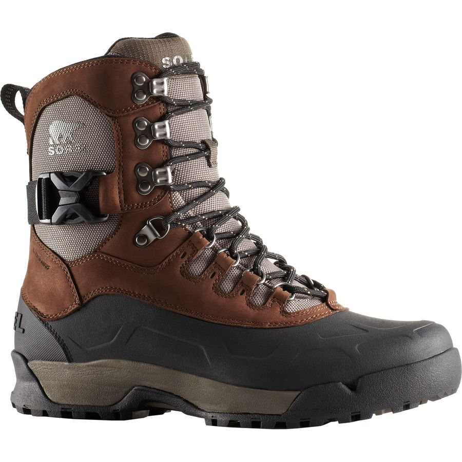 waterproof boots sorel - paxson tall waterproof boot - menu0027s - tobacco/wet sand kpgltjm