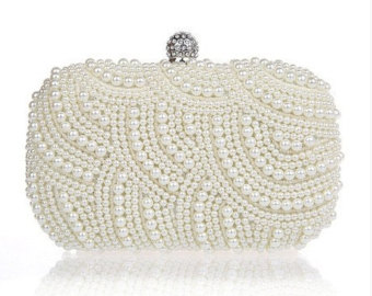 wedding bags top seller 2016 ivory pearl clutch bag, evening clutch, bridal clutch bag, wedding bmgzdhe