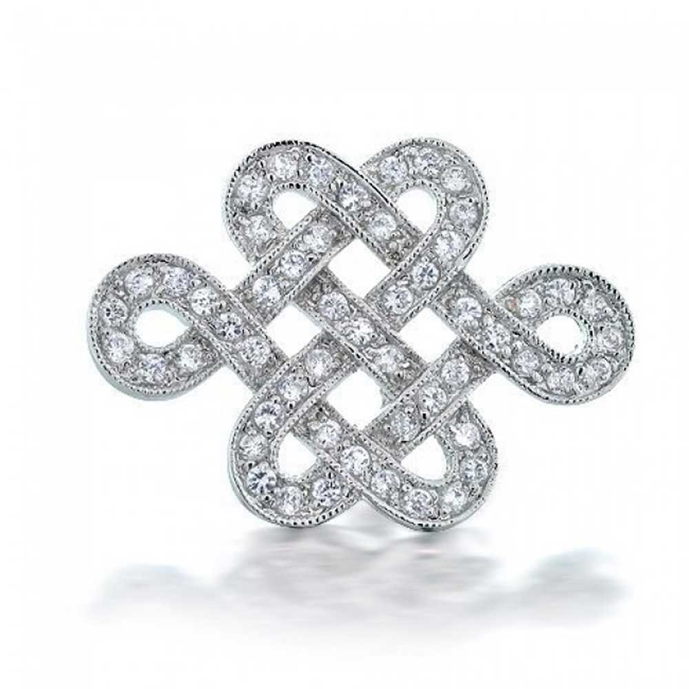 wedding brooches eternal love knot cz wedding brooch pin tfcgwcj
