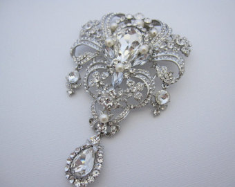 wedding brooches wedding accessories,large bridal brooch,wedding brooch,bridal rhinestone  brooch,bridal comb zdugbrz