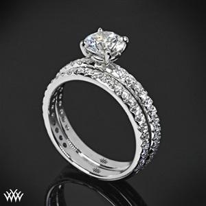 wedding engagement rings 18k white gold pave engagement ring wedding band set btrgkgn