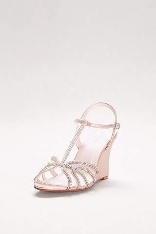wedding shoes wedges womenu0027s wedding wedges: silver, white, black u0026 more | davidu0027s bridal kwmiehc
