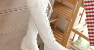 white boots harajuku bind shoelaces martin boots clwqftd