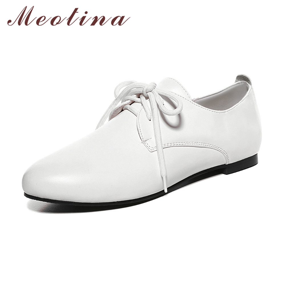 white flats meotina white shoes women flats casual lace up flat shoes pointed toe  student shoes pczobbr