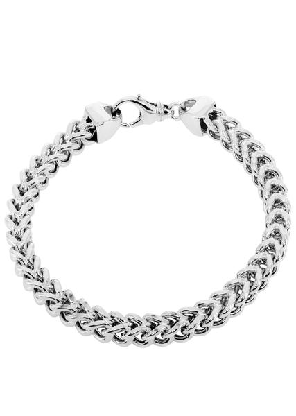 white gold bracelets hollow mens franco bracelet 10k white gold - frostnyc pjtbbdn