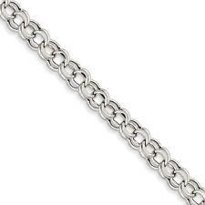 white gold charm bracelet 14k white gold 7in light 5.5mm double link charm bracelet wxcjhfu