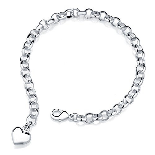 Get the best of both worlds with white gold charm bracelet