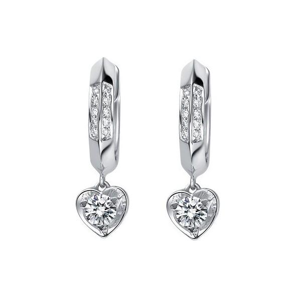 white gold diamond earrings 1 carat diamond earrings hdserbw