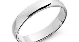 white gold rings classic wedding ring in 14k white gold (5mm) ewsjfee