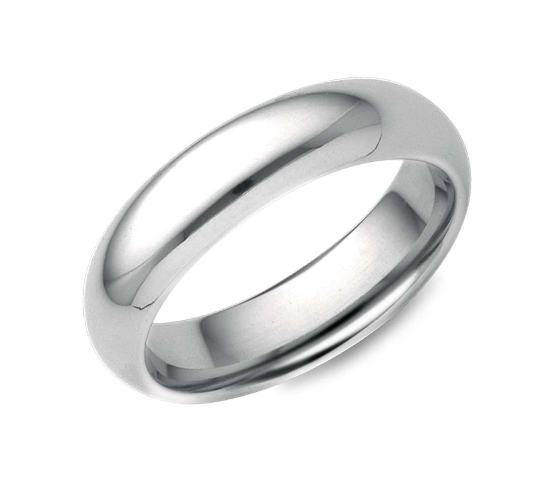 white gold wedding bands comfort fit wedding ring in 18k white gold (5mm) vwibtuc