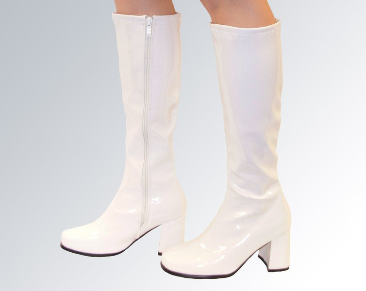 white knee high boots knee high boots - white patent - size 4 yccrdqk