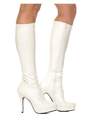 white knee high boots vdzezhj