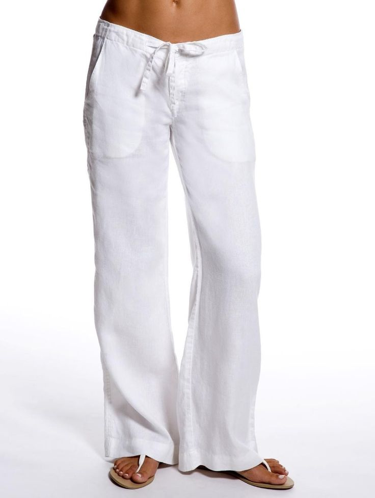 white pants for women white relaxed linen pants - womenu0027s resort wear | island company fthwfxn