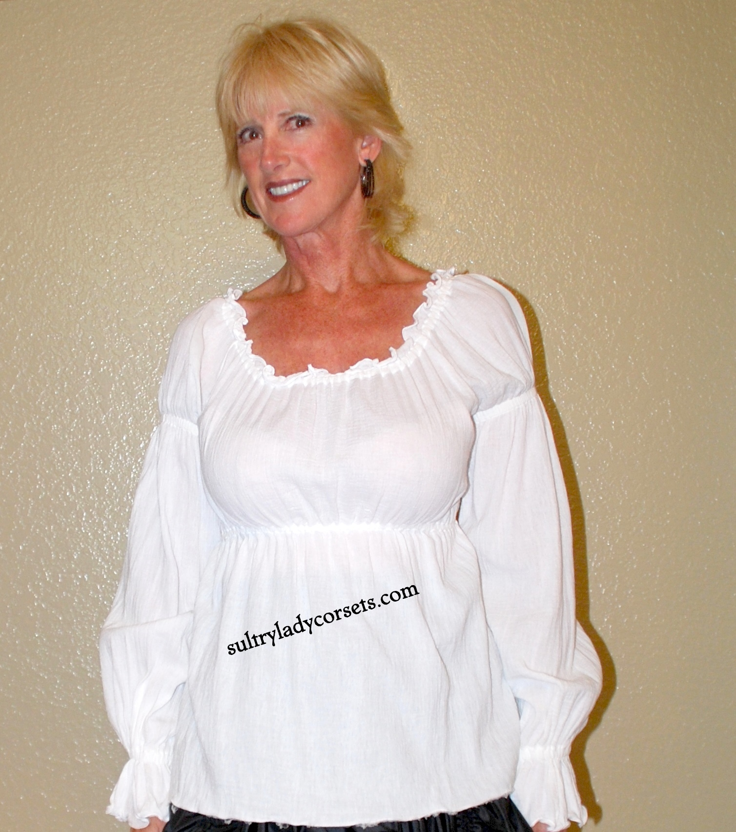 white peasant blouse-sultry lady corsets zmhsygv