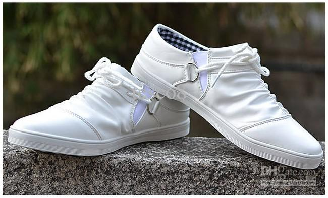 white shoes for men ... menu0027s casual shoes , white shoes korean fashion breathable trend  skateboard ... ksyynnv