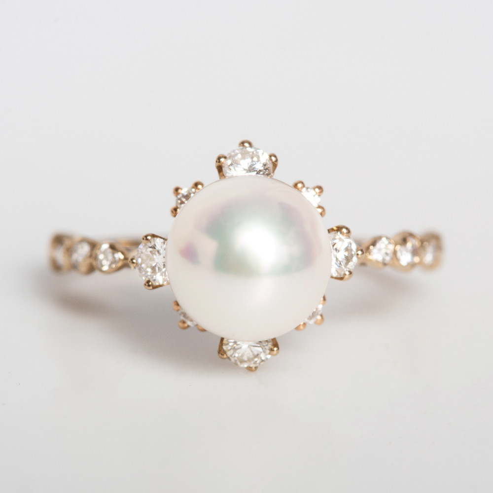winter pearl ring. kataoka kzerkxb