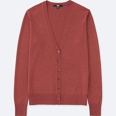 women cardigan women extra fine merino v neck cardigan, pink, medium xeiupdb