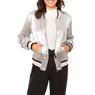 women winter coats t.d.c satin bomber jacket dsntjam