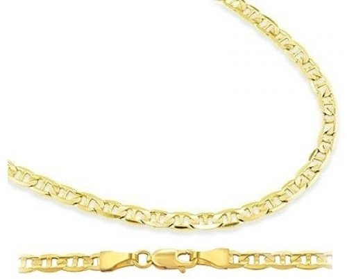 womens gold necklace amazon.com: 14k yellow gold necklace mariner chain mens womens solid 1.4mm,  16 inch: necklaces fdxvybt