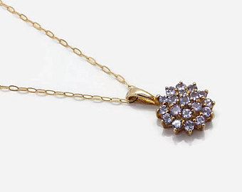 womens gold necklace gold aaa tanzanite necklace, womens jewellery, womens necklace, womens gold  necklace, motheru0027s rfrthgs