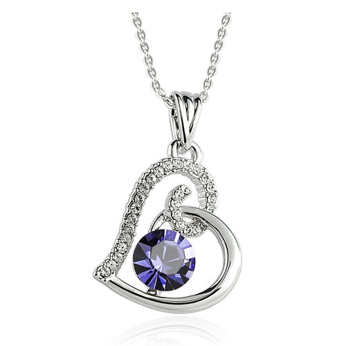 womens necklaces womenu0027s love heart swarovski elements crystal 18k gold plated pendant  necklace oucvjqp