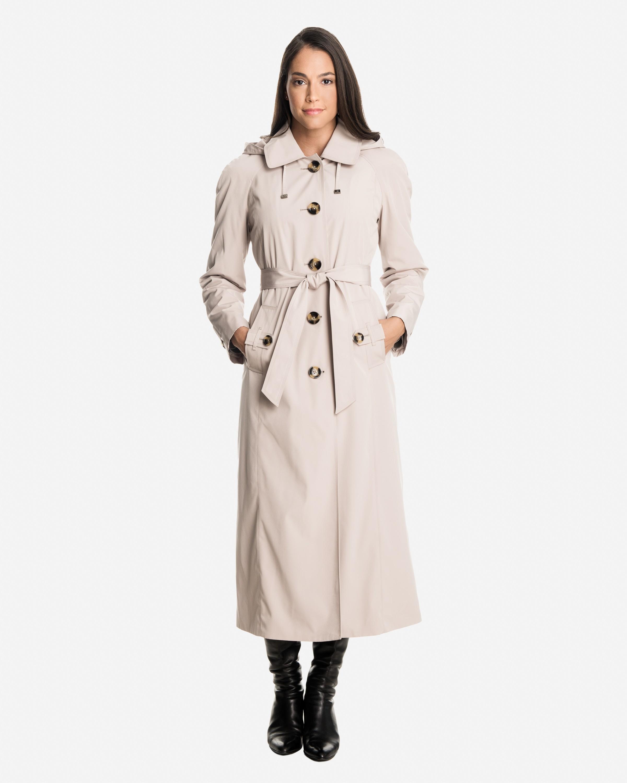 womens rain coat sophia long raincoat with detachable hood u0026 liner xynikem