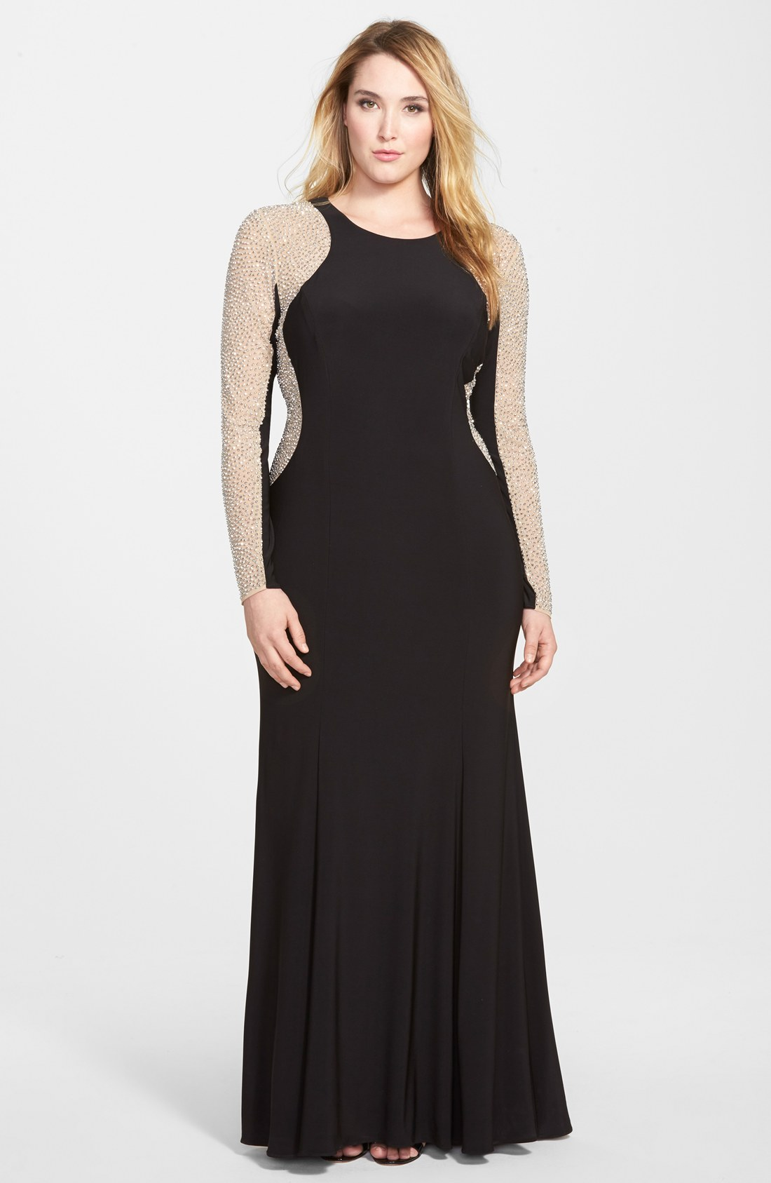 xscape dresses xscape embellished jersey gown (plus size) | nordstrom gsojaet