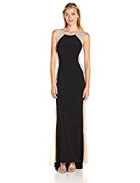 xscape dresses xscape womenu0027s long ity dress with caviar bead sides qfylftl