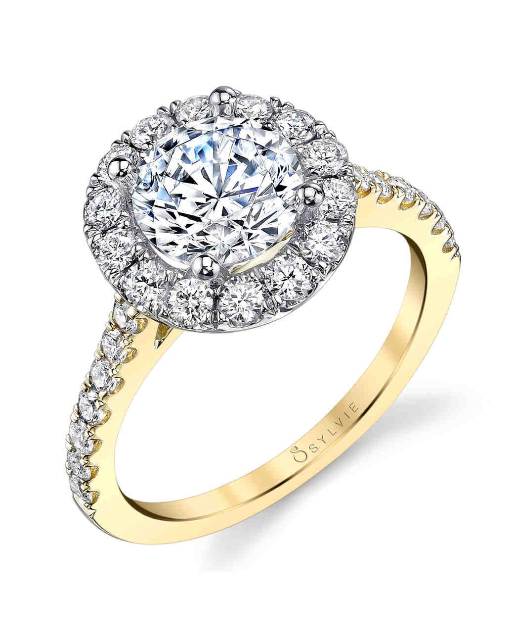 yellow gold engagement rings | martha stewart weddings gzpuivz