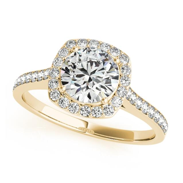yellow gold engagement rings yellow gold diamond engagement ring cushion cut shaped halo biqgits