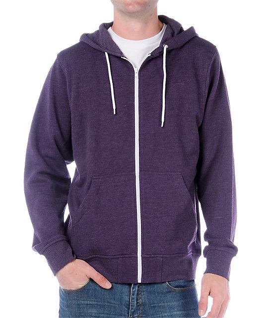 zine template solid purple hoodie xhemtvl