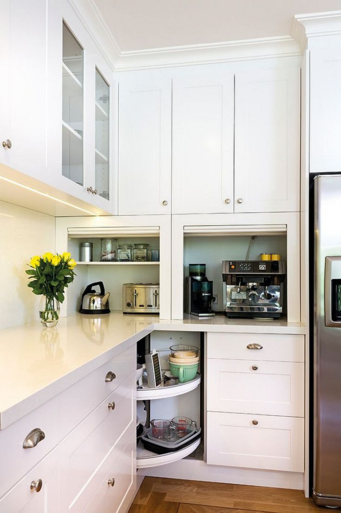 Make a small kitchen even bigger by adding the hidden cabinets and drawers 6.  maximize
