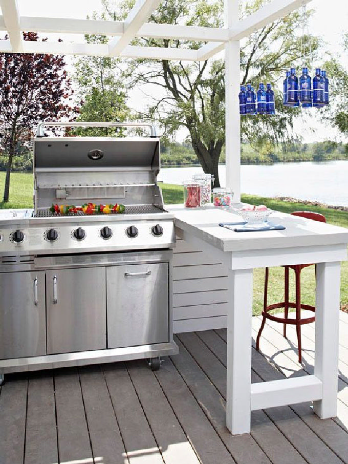 Ideas for highly functional outdoor kitchens 19