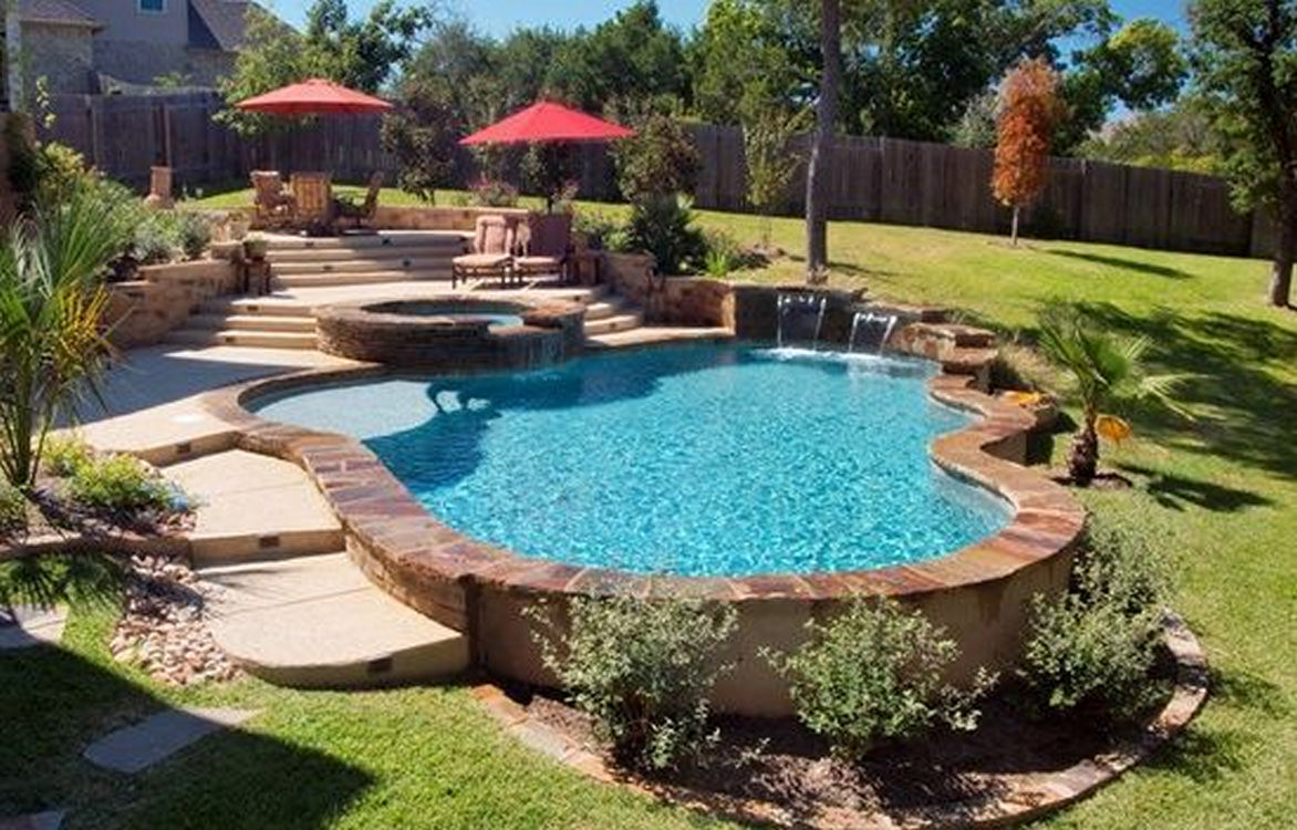 Really good semi-recessed pool for summer 14