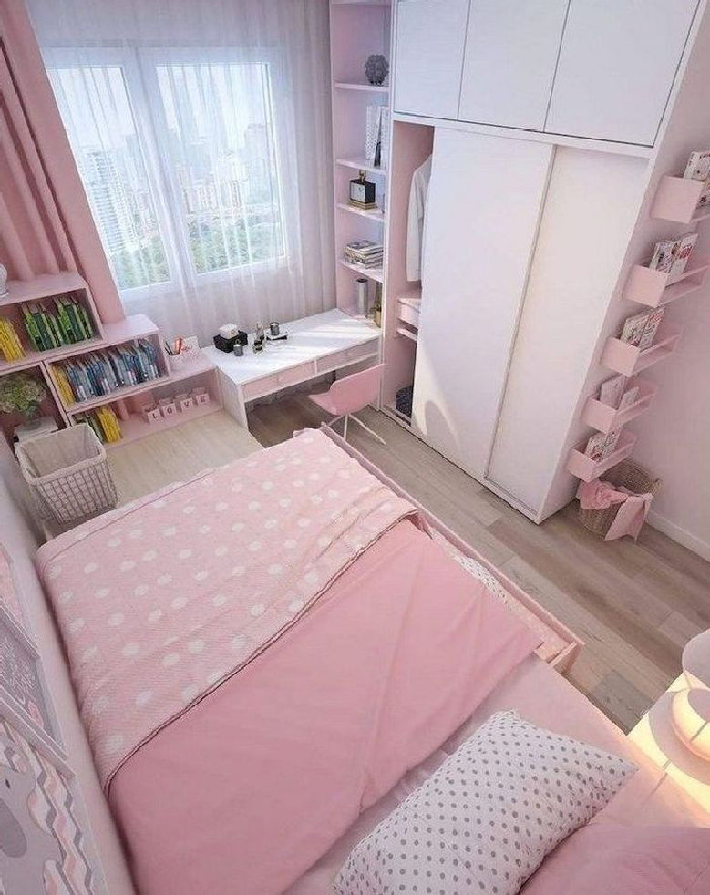 33 Inspirational Small Space Bedroom Ideas That You Definitely Like 26
