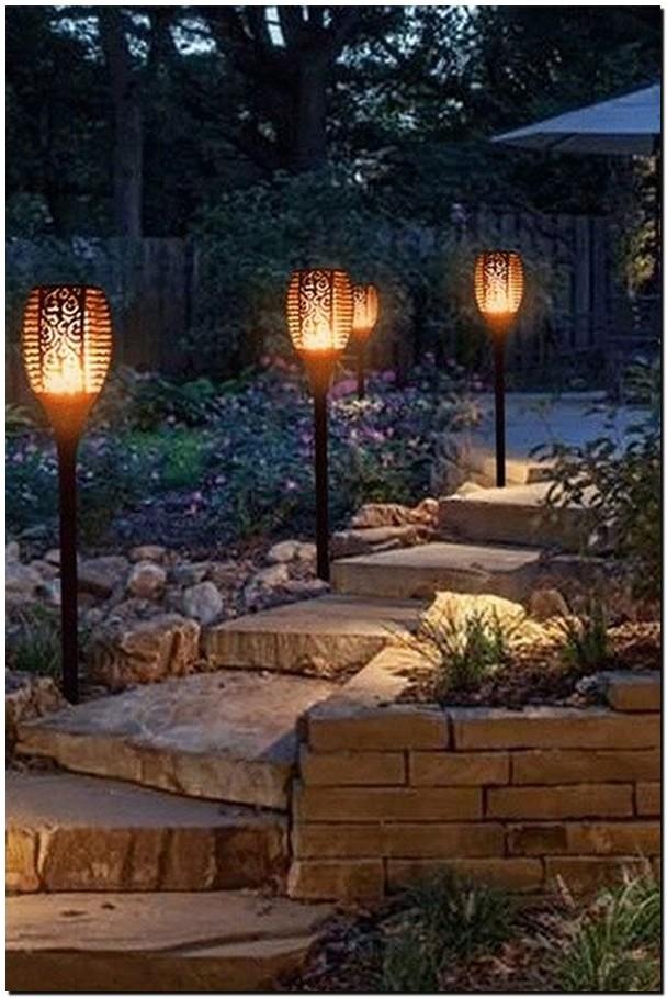 35 beautiful ideas for garden lighting 27