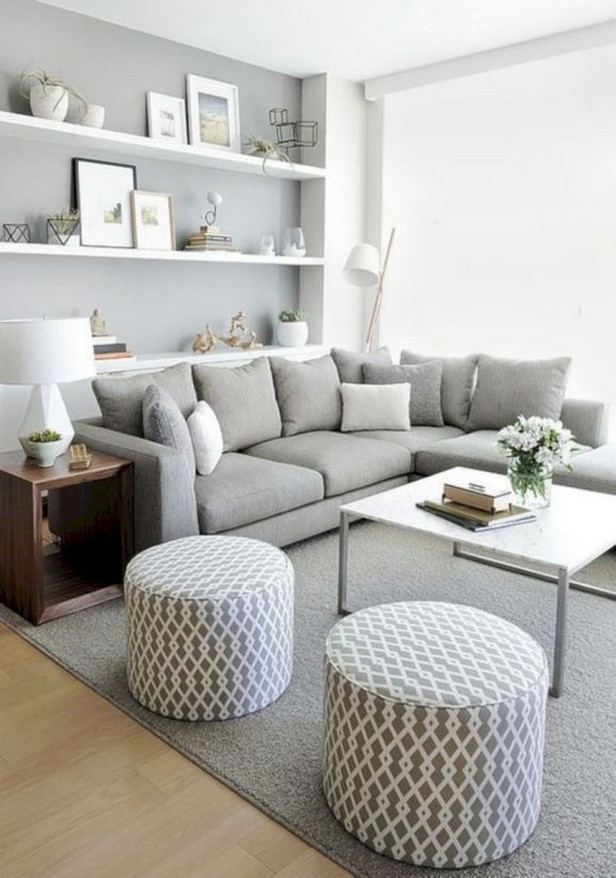 35 Charming Gray Living Room Design Ideas For Your Apartment 00004
