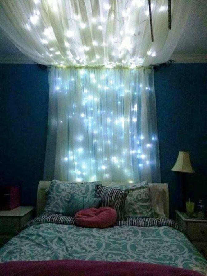 Popular lighting design for decorating your bedroom looks beautiful 35