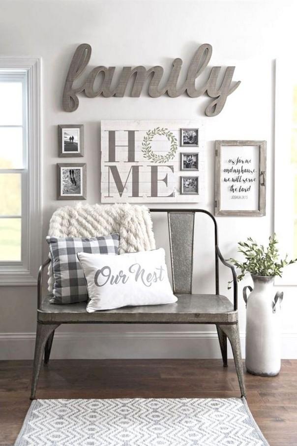 40 modern farmhouse living room design and decor inspirations 9