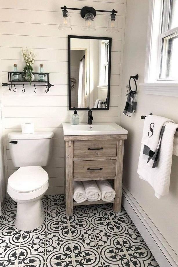 40 Top Ideas for Farmhouse Master Bathroom Design and Decoration 25